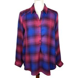 Lucky Brand Plaid Button Down Flannel